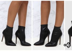 Brand new black ankle sock boots for Sale in Alexandria, VA