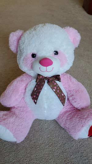 New Pink Valentine 17 inch Plush Teddy Bear for Sale in Long Beach, CA