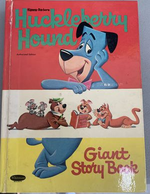 HUCKLEBERRY HOUND GIANT STORY BOOK & YOGI BEAR PAPERBACK for Sale in Palm Bay, FL