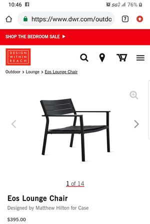 EOS Lounge chairs (2) from Design Within Reach (DWR) for Sale in Phoenix, AZ