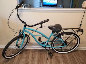 Beach Cruiser Bicycle Teal Blue 7 speed *Excellent Condition* for Sale in Roswell, GA