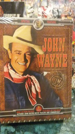 John Wayne 9 action packed movies on 3 disk DVD brand new unopened factory sealed for Sale in Yakima,  WA