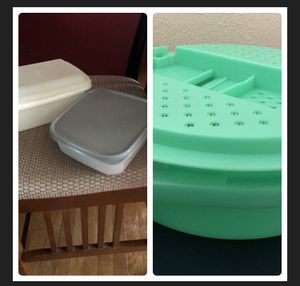 2 Tupperware bowls & Tupperware cabbage shredder for Sale for sale  Virginia Beach, VA