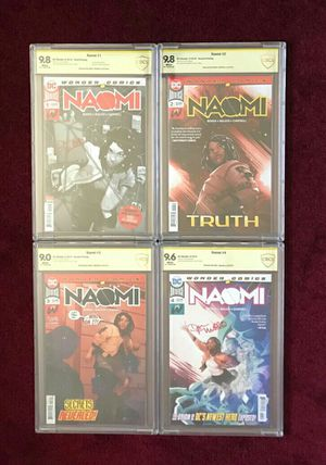 Naomi 1-4 signed and graded comic books for Sale in Fort Washington, MD