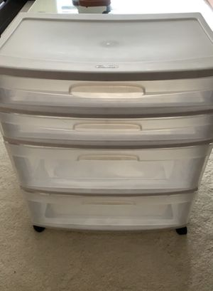 4 drawers plastic storage for Sale in Tenafly, NJ
