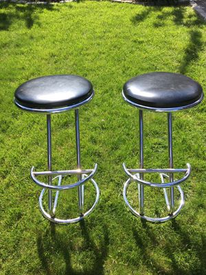 Two Vintage Chrome Bar Stools (Coaster Co of America) for Sale in The Bronx, NY