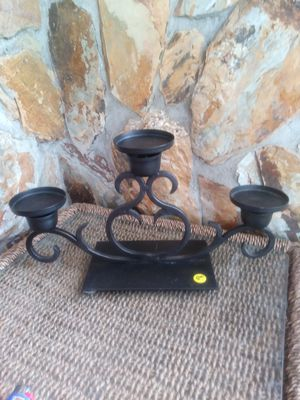 Black Wrought Iron Candle Holder for Sale in Largo, FL