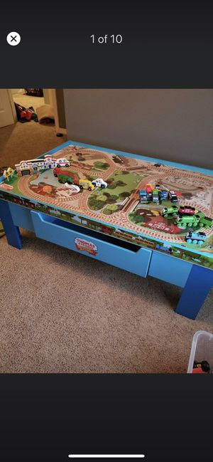 Thomas the train activity table set & with free cars great kids toy for Sale in Richardson, TX