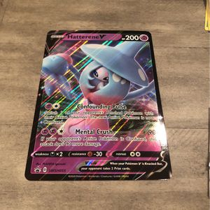 Hatterene Holographic Pokémon Card for Sale in Baltimore, MD
