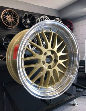 "Gold Deep Dish Wheels Brand New in 19"" Staggered For G35 G37 350Z 370Z Honda Accord Civic 5x114 for Sale in Chandler, AZ"