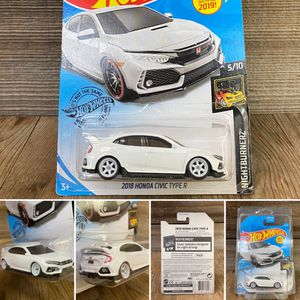REPACKAGED CUSTOM 1/64 1:64 - '18 Honda Civic TypeR (Lowered + camber with premium 6-spoke wheels) for Sale in Orange, CA