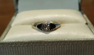 New Silver CZ Black Onyx Ring. for Sale in Pawtucket, RI