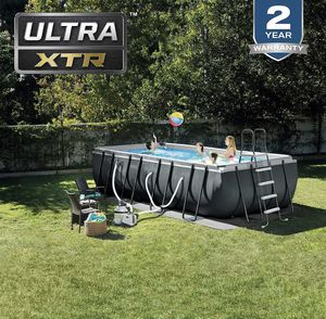 INTEX 18ft X 9ft X 52in Ultra XTR Rectangular Pool Set w/Pump for Sale in Westminster, CA