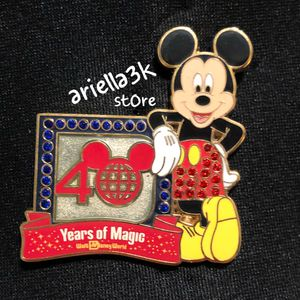 Disney Pin 40 Years of Magic Anniversary Logo Letter D Jeweled Mickey Mouse. NEW for Sale in Kissimmee, FL