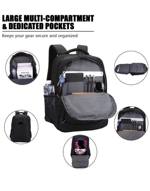 Laptop Backpack, Large Scansmart TSA Friendly Travel Bag, Durable Business Backpack with USB Charging Port for Women & Men, Waterproof College School