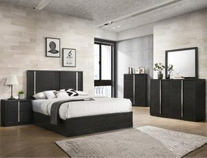 🌲Crown Mark [SPECIAL] Evenson Brownish Gray Platform Bedroom Set | [FREE CHEST] for Sale in Berwyn Heights, MD