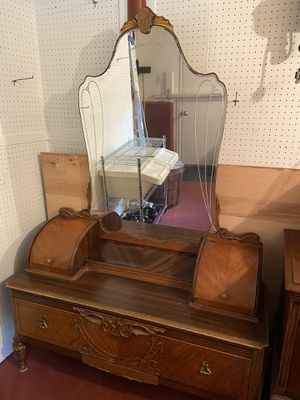 Antique twin bed, bureau with mirror for Sale in Canton, MA