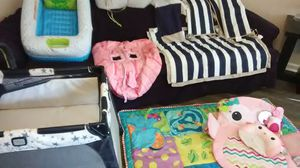 Pack and play, baby bath, crib set, play mat, shopping cart cover for Sale in Stone Mountain, GA