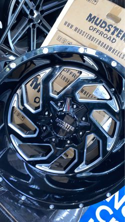 Mudster off road 20x12 5x127 5x139 rims with tires full package for Sale in Madison Heights,  MI