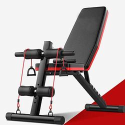 Weight Bench, Adjustable Sit Up Incline Abs Bench Flat Fly Weight Press Fitness Rope for Sale in Detroit,  MI
