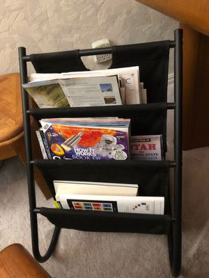 3 Tier Canvas & Metal Sling Magazine Rack for Sale in Sandy, UT