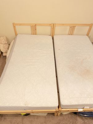 Twin Bed frames with mattress for Sale in Bloomington, IL