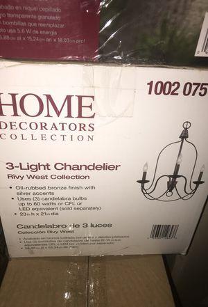 3 light chandelier for Sale in Glendale, AZ