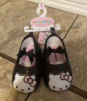 Hello Kitty Girls Crib Shoes Size 3/9-12 M for Sale in Gretna, LA