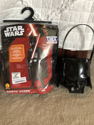Kids Darth Vader costume with mask and bucket! Wore once! for Sale in Chantilly, VA