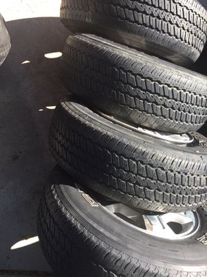 """17"""" tires and rims Chevy and GMC pick up for Sale in Westerville, OH"""