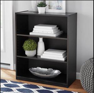 "31"" 3 Shelf Black Bookcase Shelves Shelving Storage Organization Bookrack Cabinet for Sale in Frisco, TX"