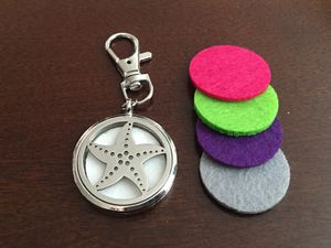 Essential Oils Diffuser w 4 Pads - Key Ring Keychain Lobster Clasp for Sale in Menlo Park, CA