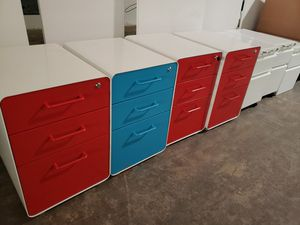 Filing cabinets, red, blue, green, white, pedestals for Sale in San Jose, CA