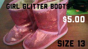 Girls pink glitter boots size 13 for Sale in San Bernardino, CA