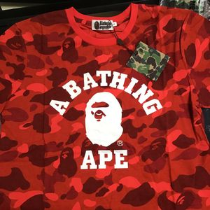 Red Camo Bape Shirt for Sale in East Los Angeles, CA