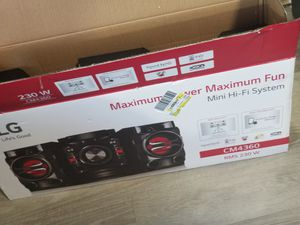 lg hifi stereo system brand spanking new for Sale in The Bronx, NY
