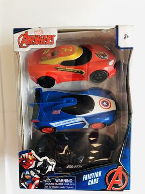 Marvel Avengers Friction Cars Set of 3 For Ages 3+ for Sale in Des Plaines, IL