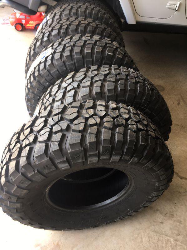 "37x12.5x17"" BF Goodrich Mud tires"