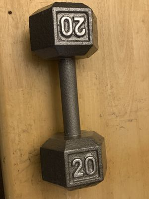 20lb hand weight for work out medal like new. for Sale in Boston, MA