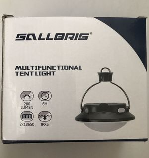 Rechargeable camping lantern battery operated hanging tent light for camping,power bank for emergency for Sale in Arlington, TX