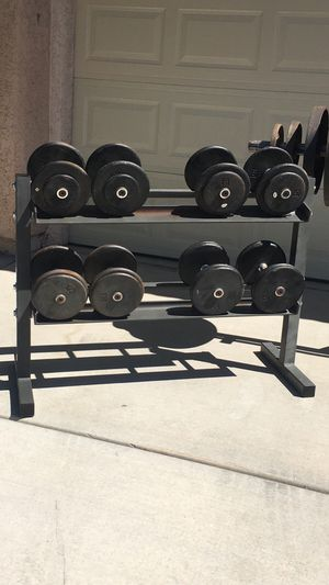 Pro-Style Dumbbells and Rack for Sale in Las Vegas, NV