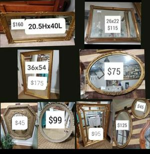 Mirrors all sizes for Sale in Norfolk, VA