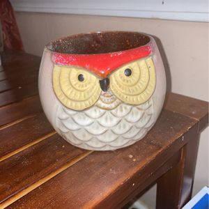 Owl Planter For Plant Or Store Things In Decoration for Sale in Kennesaw, GA