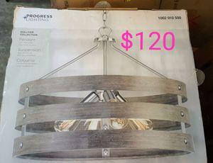 4 light farmhouse style progress chandelier for Sale in Bakersfield, CA