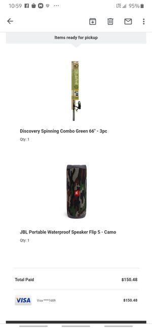 JBL flip 5 and fishing pole for Sale in Columbus, OH