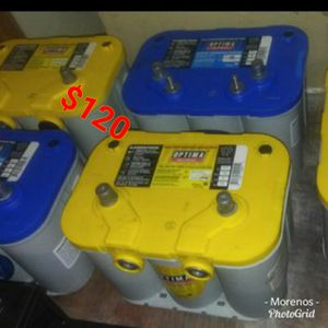 WITH CORE EXCHANGE YELLOW TOP BATTERY AVAILABLE GEL OPTIMA DEEP CYCLE for Sale in Anaheim, CA