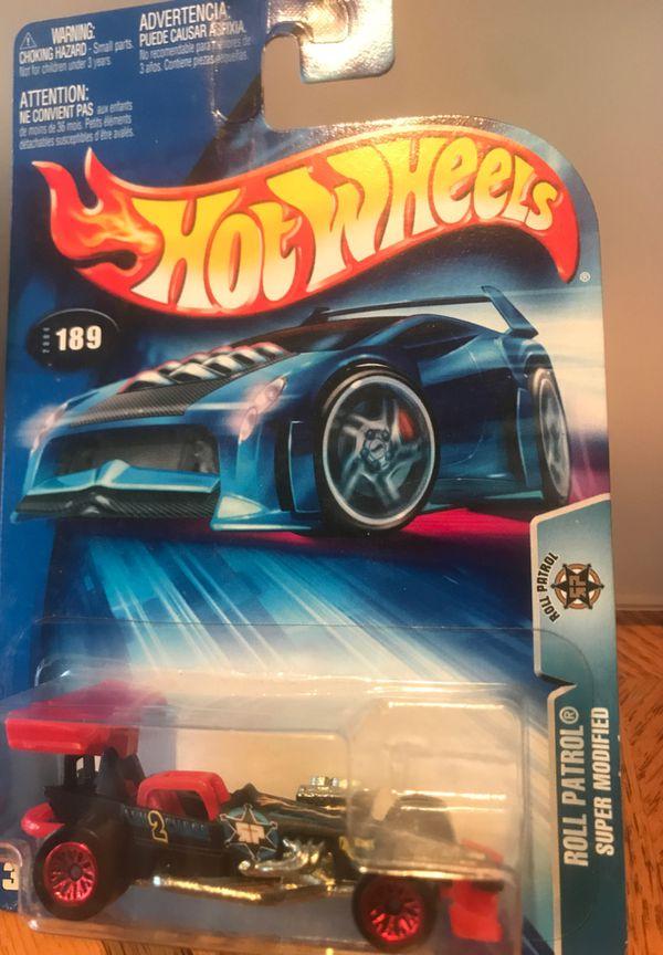 2003 Hot Wheels #181 Roll Patrol 7/10 PHANTOM CORSAIR Blue w/5 Spokes Wheels