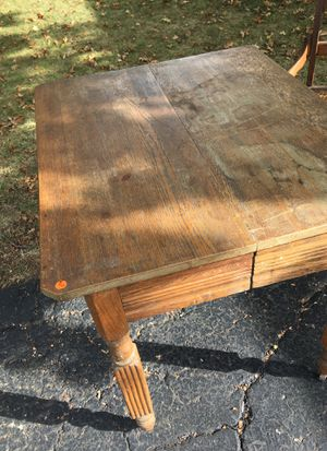 Antique wood table on wheels for Sale in Westerville, OH