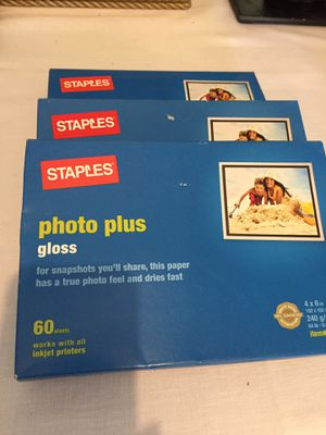 Photo paper 3 boxes for Sale in Centreville, VA