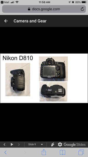 Nikon d810 body, 3 battery's, manual, 57,165 shots for Sale in Santa Ana, CA
